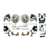1967-1969 Camaro Front Disc Brake Conversion Kit, 8 Inch Chrome Booster, 2 Inch Drop, Black Show N' Go