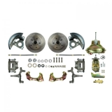 1967-1972 Chevelle Front Disc Brake Conversion Kit, 11 Inch Booster, 2 Inch Drop Spindles