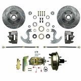 1967-1969 Camaro Front Disc Brake Conversion Kit for 14 Inch Wheels - Drilled & Slotted Rotors