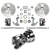 1964-1972 Chevelle Front Disc Brake Conversion Kit for 14 Inch Wheels - 8 Inch Chrome Slimline Booster