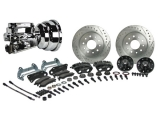 1967-1969 Camaro Signature Front Power Disc Brake Kit, 2 Inch Drop, Chrome Upgrade