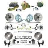 1964-1972 Chevelle Ground Up Exclusive 4 Wheel Disc Brake Conversion Kit, 9 Inch Booster