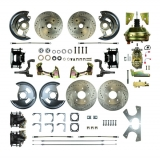 1964-1972 Chevelle 4 Wheel Disc Brake Kit, 9 Inch Booster, Black Show N' Go