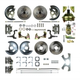 1964-1972 Chevelle Complete 4 Wheel Disc Brake Kit 9 Inch Booster