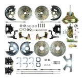1967-1969 Camaro 4 Wheel Disc Brake Kit, 11 Inch Booster, Black Show N' Go, Non-Staggered