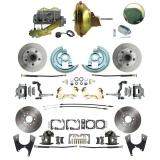 1964-1972 Chevelle Ground Up Exclusive 4 Wheel Disc Brake Conversion Kit, 11 Inch Delco Booster
