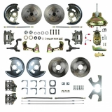 1964-1972 Chevelle Complete 4 Wheel Disc Brake Kit 11 Inch Booster
