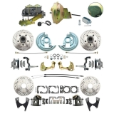 1964-72 El Camino Ground Up Exclusive 4 Wheel Disc Brake Kit, D/S Rotors, SS Lines, 9 Inch Booster