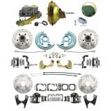 1964-72 Chevelle Ground Up Exclusive 4 Wheel Disc Brake Kit, D/S Rotors, SS Lines, 11 Inch Booster