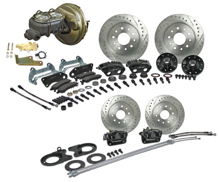 1964-1972 Chevelle Signature 4 Wheel Power Disc Brake Kit, 2 Inch Drop