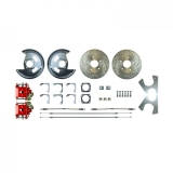 1964-1977 El Camino Rear Disc Brake Conversion Kit, Red Show N' Go, Non Staggered Shocks