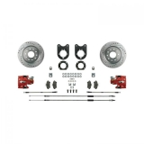1968-1969 Camaro Signature Rear Disc Brake Conversion Kit, Red Show N' Go, Staggered Shocks