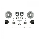 1970-1974 Camaro Signature Rear Disc Brake Conversion Kit, Black Show N' Go, Staggered Shocks