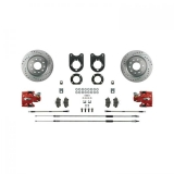 1970-1974 Camaro Signature Rear Disc Brake Conversion Kit, Red Show N' Go, Staggered Shocks