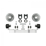 1975-1981 Camaro Signature Rear Disc Brake Conversion Kit, Black Show N' Go, Staggered Shocks