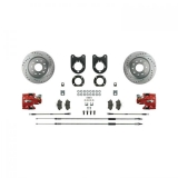 1975-1981 Camaro Signature Rear Disc Brake Conversion Kit, Red Show N' Go, Staggered Shocks