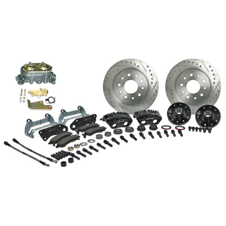 1964-1972 Chevelle Signature Front Manual Disc Brake Kit, 2 Inch Drop