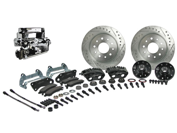 1964-1972 Chevelle Signature Front Manual Disc Brake Kit, Stock Height, Chrome Upgrade