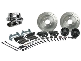 1968-1974 Nova Signature Front Manual Disc Brake Kit, 2 Inch Drop, Chrome Upgrade