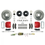 1967-1969 Camaro Signature Manual Front Disc Brake Conversion Kit, Stock Height, Red Show N' Go