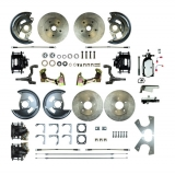 1967-1969 Camaro Manual 4 Wheel Disc Brake Kit, Chrome Master, Non-Staggered
