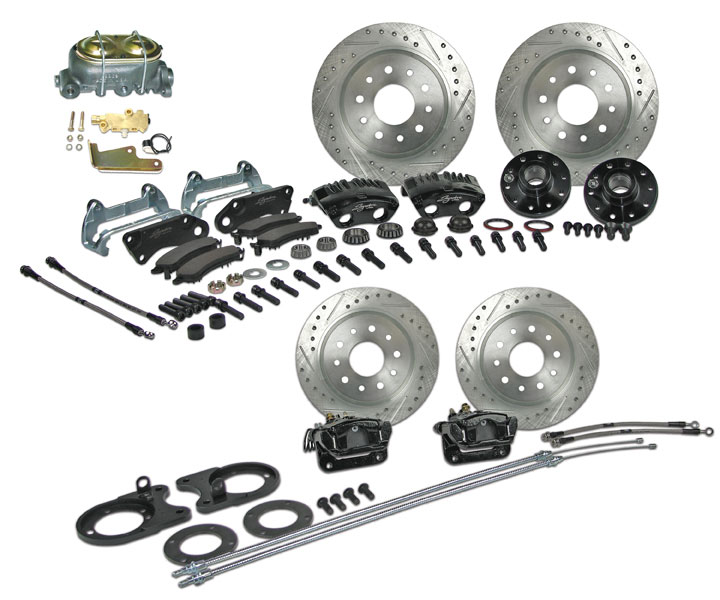 1964-1972 Chevelle Signature 4 Wheel Manual Disc Brake Kit, 2 Inch Drop