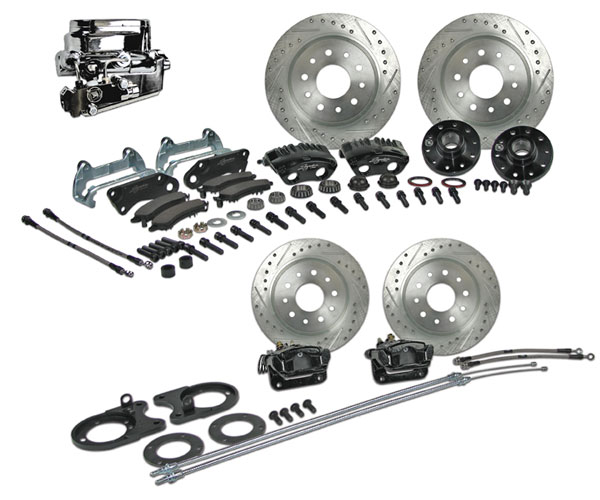 1964-1972 Chevelle Signature 4 Wheel Manual Disc Brake Kit, 2 Inch Drop, Chrome Upgrade