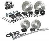 1964-1972 Chevelle Signature 4 Wheel Manual Disc Brake Kit, Stock Height, Chrome Upgrade
