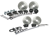 Signature Series 4 Wheel Brake Kits, 2 Inch Drop Spindles, Non-Staggered Rear Shocks