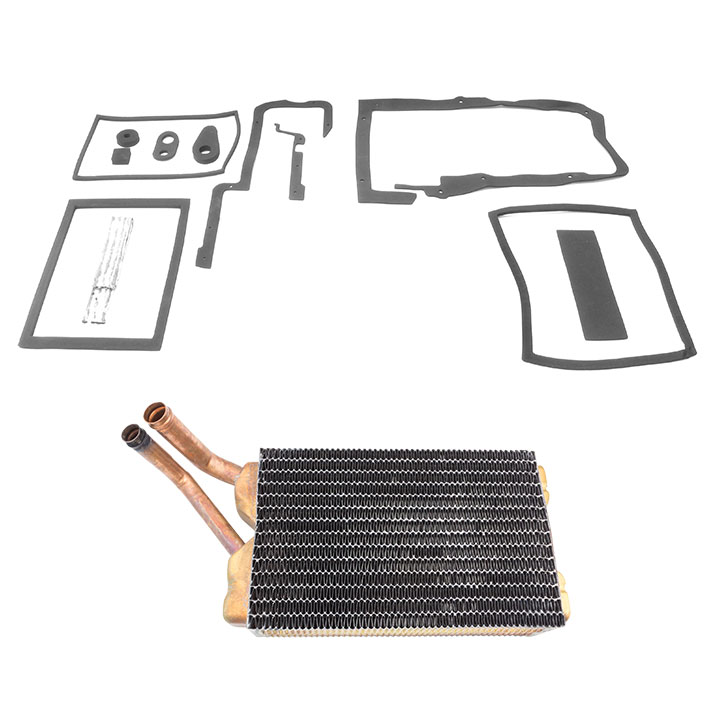 1968-1972 Chevelle Heater Core And Box Seals Kit, With Air Conditioning
