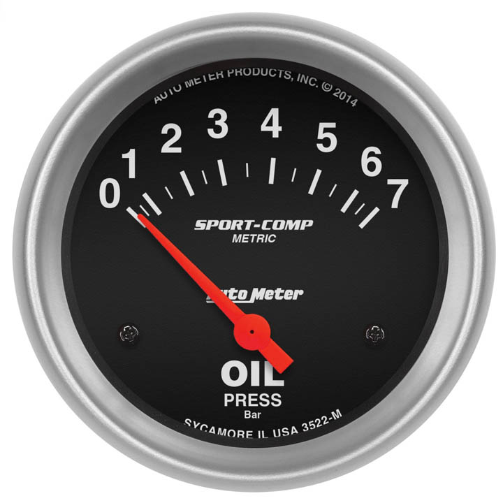 Auto Meter 3422 Sport-Comp Mechanical Oil Pressure Gauge