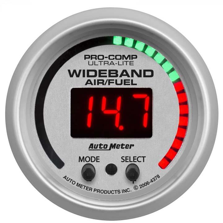 AutoMeter  10:1-17:1 AFR Ultra-Lite Digital Gauge Wideband Air Fuel Ratio 4379