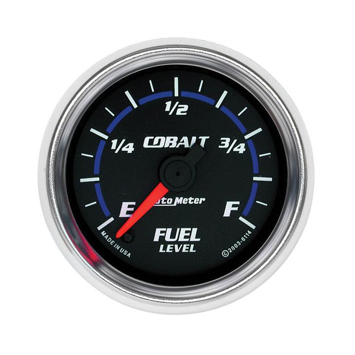 AutoMeter 2-1/16in. Fuel Level Gauge, Programmable 0-280 Ohm, Cobalt: 6114