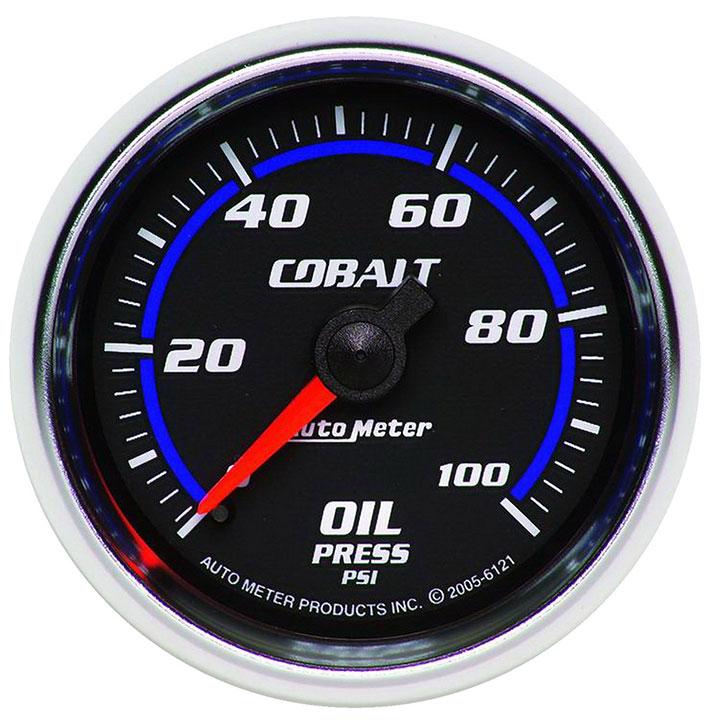 AutoMeter 2-1/16in. Oil Pressure Gauge, 0-30 PSI, Stepper Motor, Cobalt: 6121