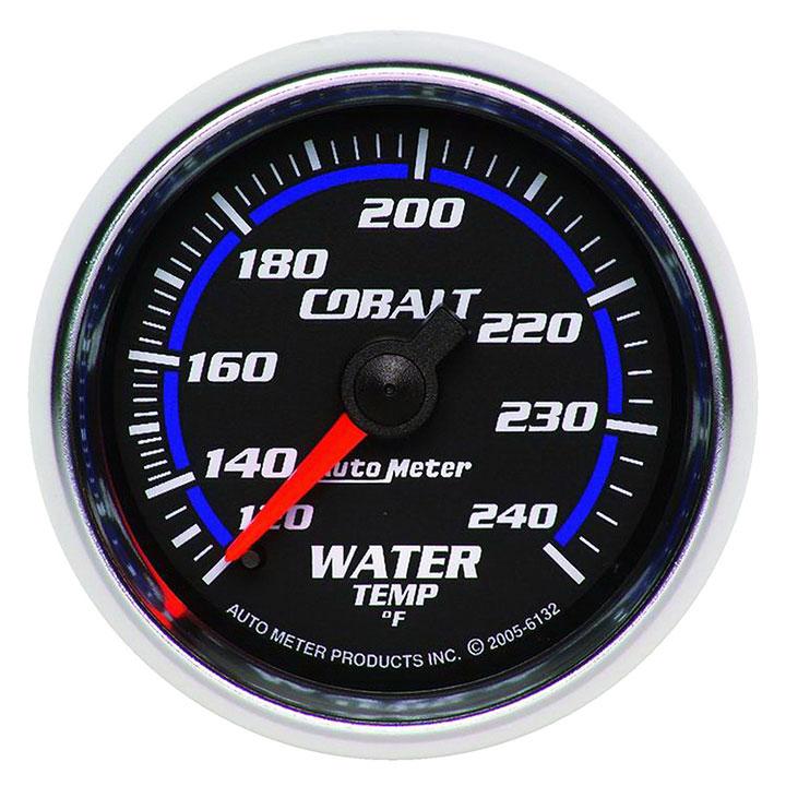 AutoMeter 2-1/16in. Water Temperature Gauge, 120-240F, Cobalt: 6132