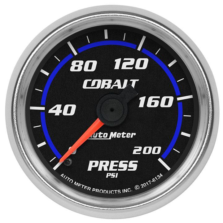 AutoMeter 2-1/16in. Pressure Gauge, 0-200 PSI, Cobalt: 6134