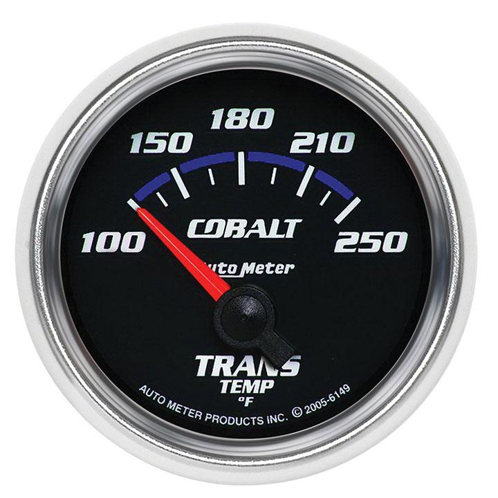 AutoMeter 2-1/16in. Transmission Temperature Gauge, 100-250F, Cobalt: 6149