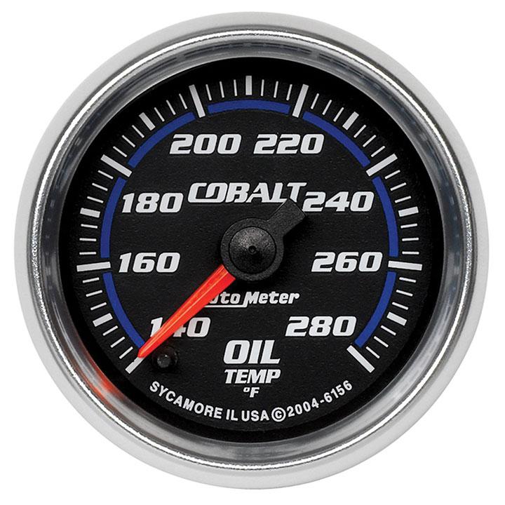 AutoMeter 2-1/16in. Oil Temperature Gauge, 140-280F, Cobalt: 6156