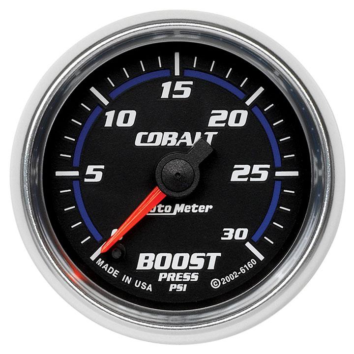 AutoMeter 2-1/16in. Boost Gauge, 0-30 PSI, Cobalt: 6160