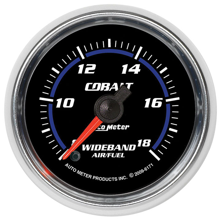 AutoMeter 2-1/16in. Wideband Air/Fuel Ratio, Analog, 8:1-18:1, Cobalt: 6171
