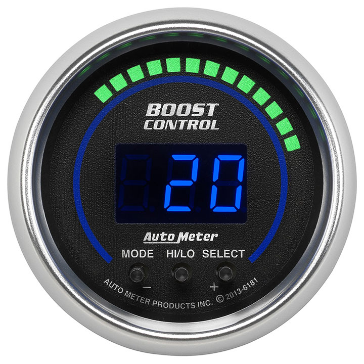 AutoMeter 2-1/16in. Boost Gauge Controller, 30 In Hg/30 PSI, Cobalt: 6181