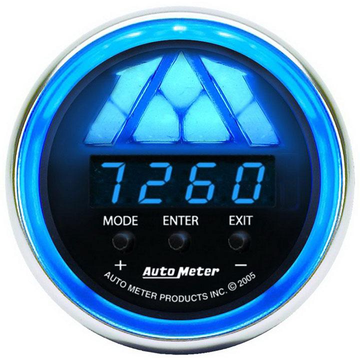 AutoMeter 2-1/16in. Digital Pro Shift Light, 0-16,000 RPM, Cobalt: 6187
