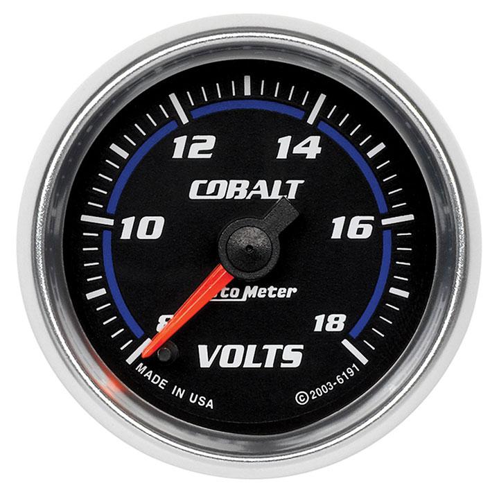 AutoMeter 2-1/16in. Voltmeter, 8-18V, Stepper Motor, Cobalt: 6191