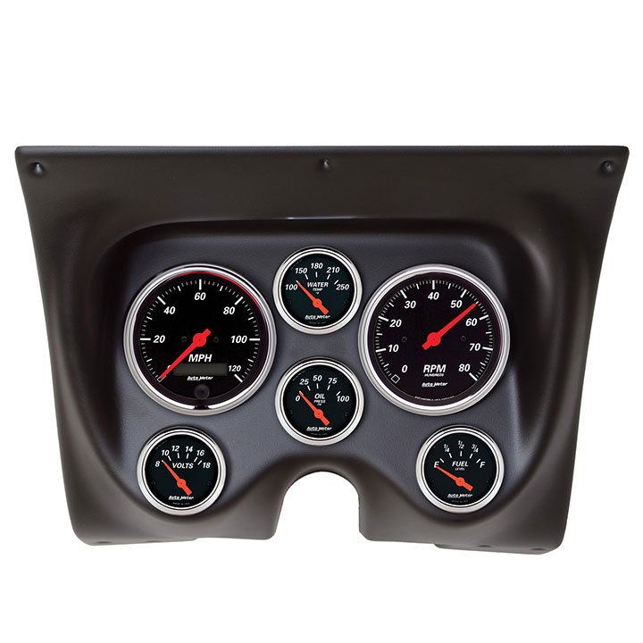 1967-1968 Camaro AutoMeter Direct Fit 6 Piece Gauge Kit, Designer Black: 7020-DB