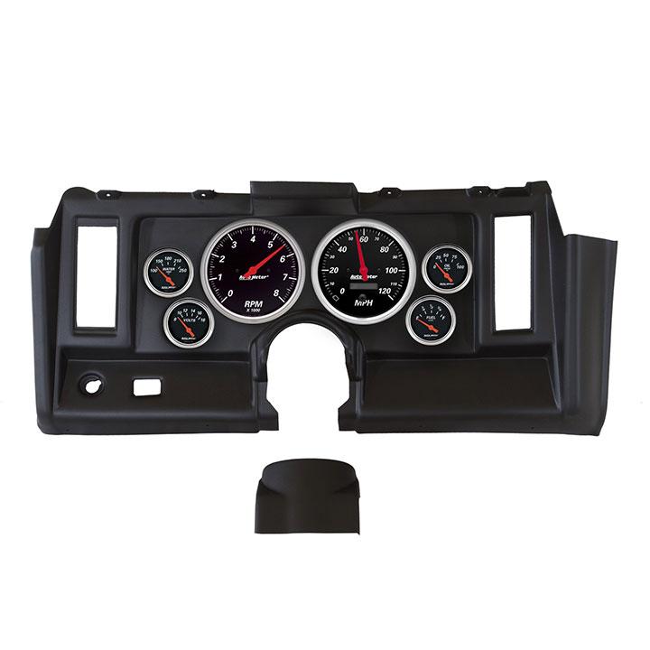1969 Camaro AutoMeter Direct Fit 6 Piece Gauge Kit, Designer Black: 7021-DB