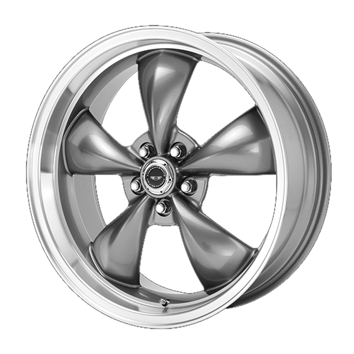 American Racing Torq Thrust M 1-Piece Wheel, 17x7 Grey with Machined Lip: AR105M7761A
