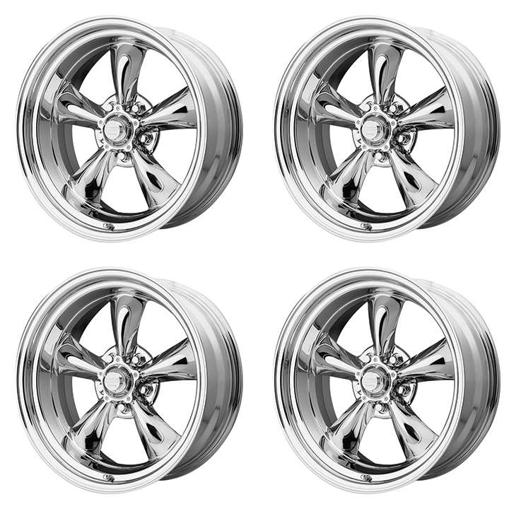 American Racing Torq Thrust 2 Wheel Kit 17x7 17x8 Chrome