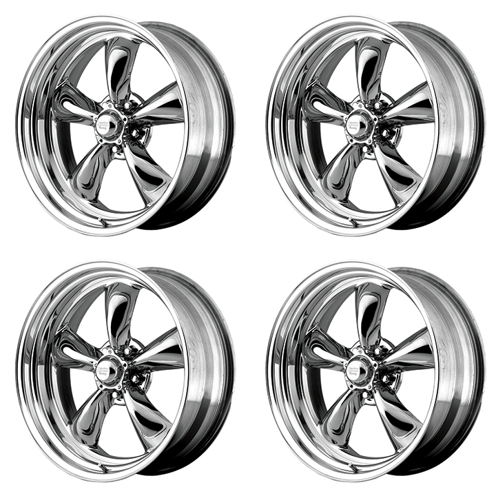 American Racing Torq Thrust 2 Wheel Kit 17x8 Hrdpvd With Chrome Pvd