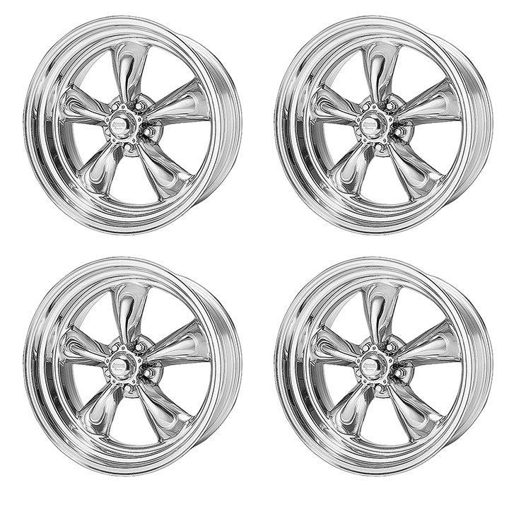 American Racing Heritage Torq Thrust 2 Wheel Kit 17x7 Polished