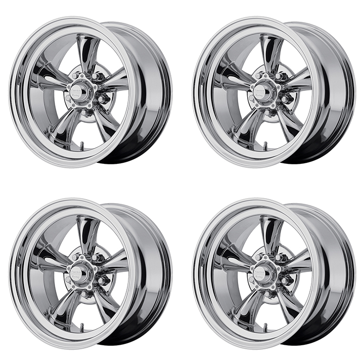 American Racing Torq Thrust D Wheel Kit 15x7 15x8 Chrome